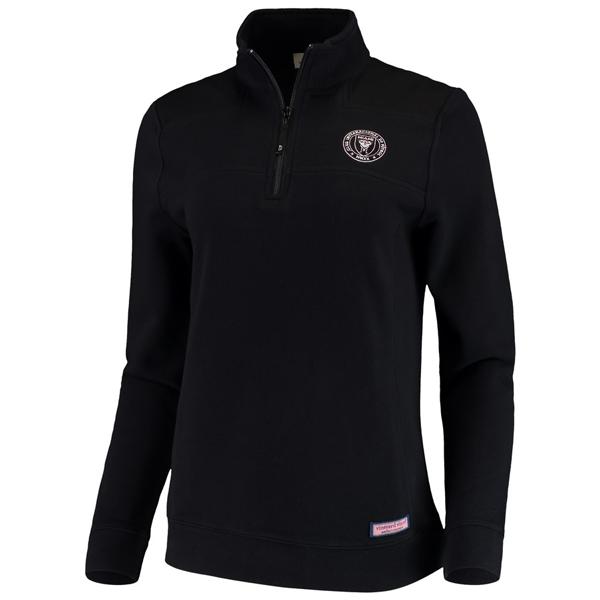 Inter Miami CF Vineyard Vines Women's Shep Quarter-Zip Sweatshirt – Black